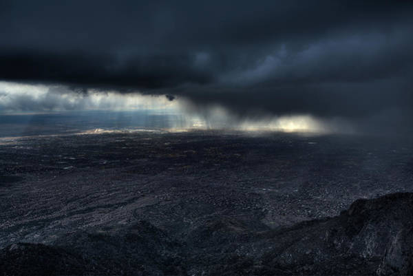 Storming Wall Art - Photograph - Storm Over Alburquerque by Max Witjes