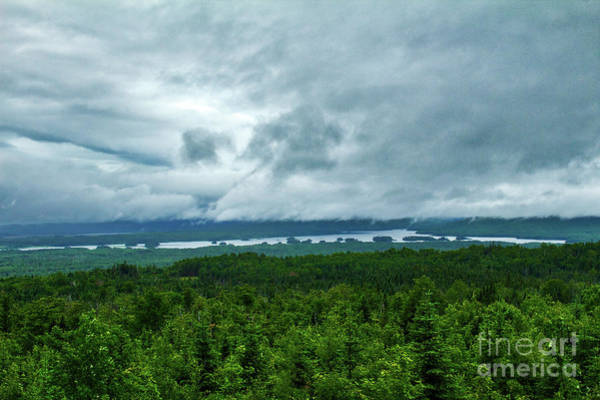 Somerset County Photograph - Storm Over Attean Pond by John Kenealy