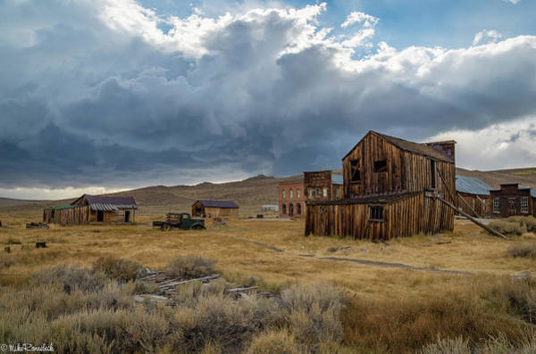 Bodie Ghost Town Wall Art - Photograph - Storm Over Bodie by Mike Ronnebeck