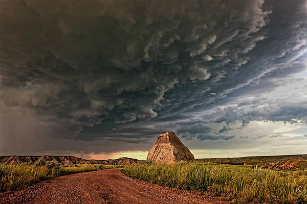Badlands Photograph - Storm Over Dinosaur by Dan Jurak