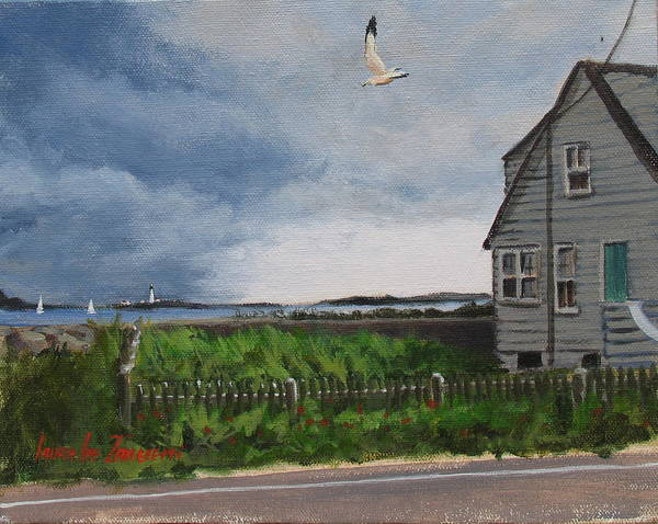 Wall Art - Painting - Storm Over Hull by Laura Lee Zanghetti
