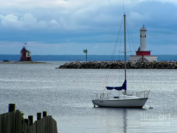 Lake Huron Photograph - Storm Over Mackinac by Pamela Baker