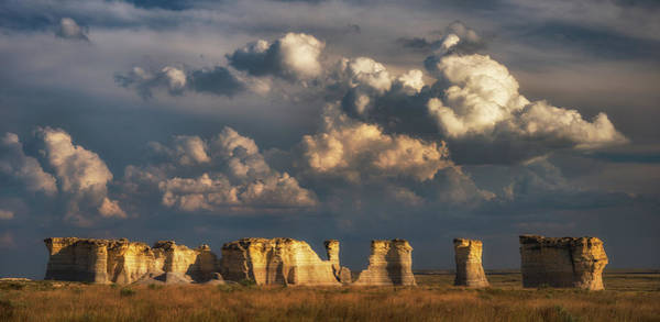 Photograph - Storm Over Monument Rocks by Darren White