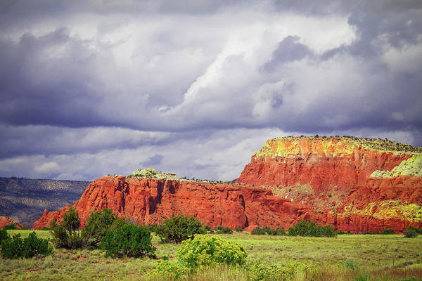 Wall Art - Photograph - Storm Over Red Mountains by Steven Bateson