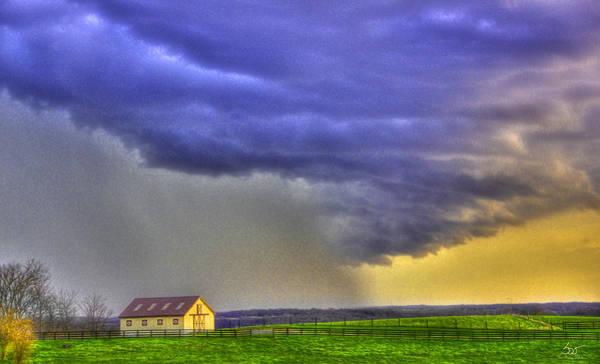 Photograph - Storm Over River by Sam Davis Johnson