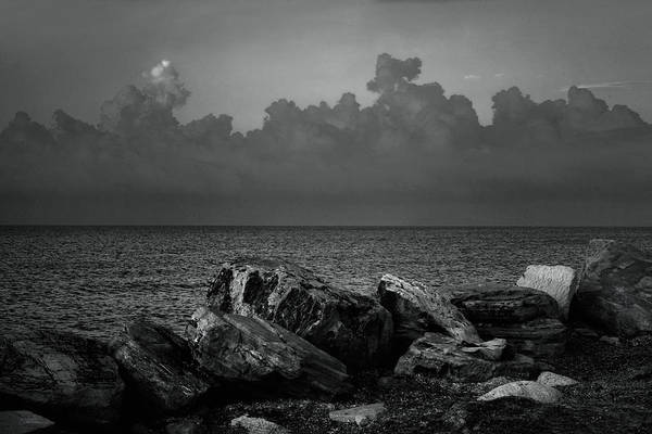 Wall Art - Photograph - Storm Over Roda- Greece by Cambion Art
