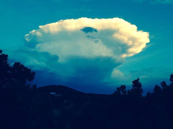 Photograph - Storm Over Santa Fe by Sharon Cromwell