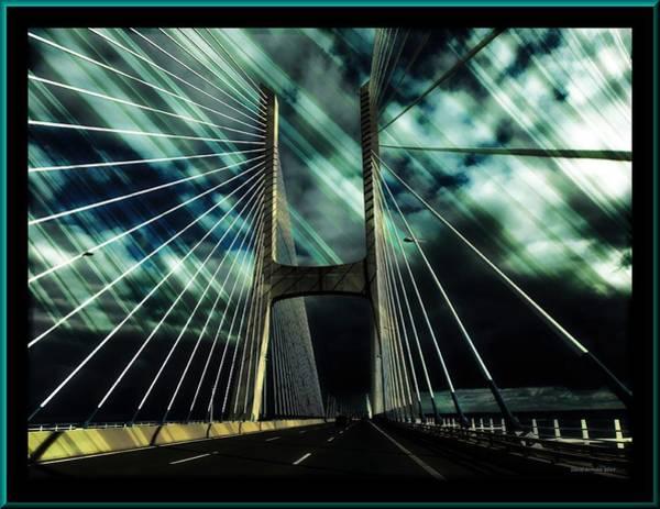 Vasco Da Gama Bridge Wall Art - Photograph - Storm Over The Bridge  by Daniel Arrhakis