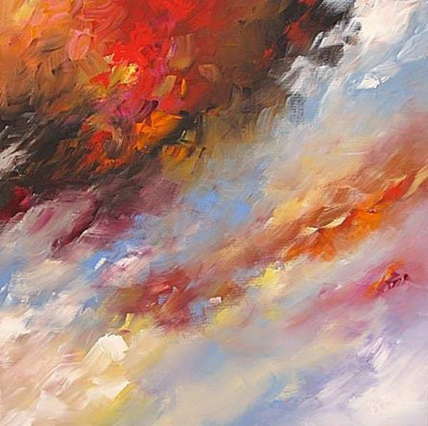 Fauve Painting - Storm Over Tulsa by Linda Monfort