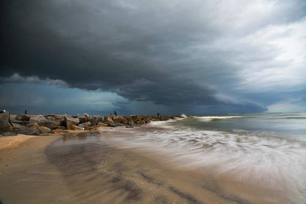 Matanzas Inlet Wall Art - Photograph - Storm Over Vilano Beach by Robin Anderson