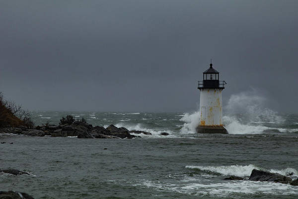 Wall Art - Photograph - Storm Riley Pickering Lighthouse by Jeff Folger