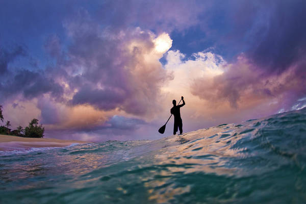 Paddling Photograph - Storm Stander by Sean Davey