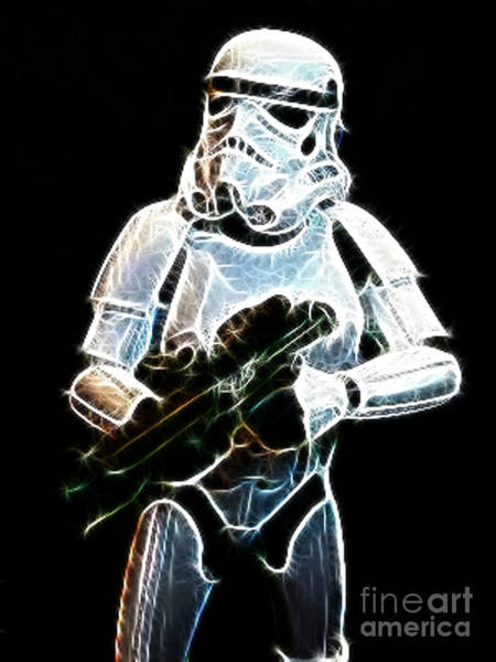 Galactic Empire Photograph - Storm Trooper by Paul Ward