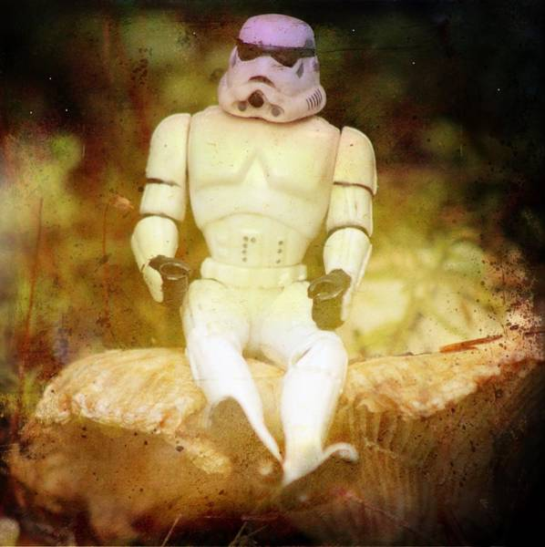Galactic Empire Photograph - Storm Trooper Sitting by Modern Art
