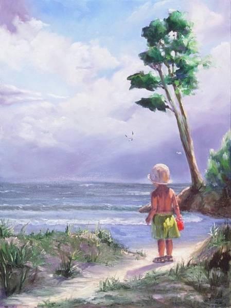 Coast Line Painting - Storm Watching by Laura Lee Zanghetti