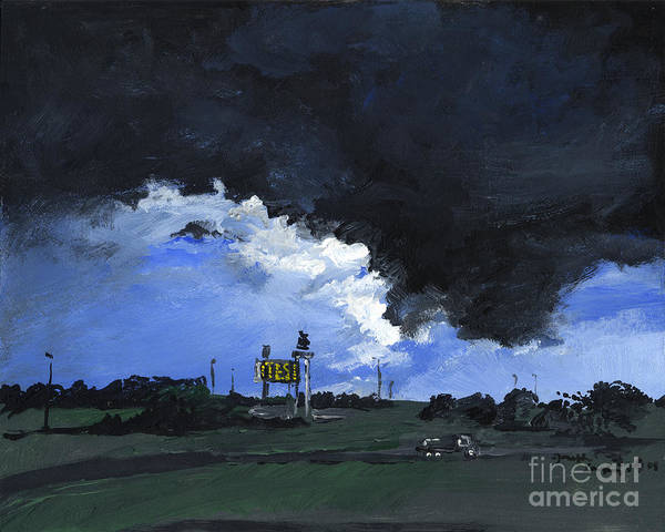 Painting - Storm's A Comin' by Joseph A Langley