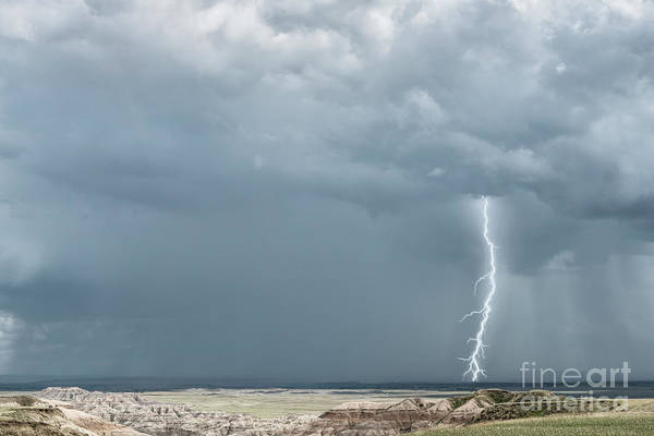 Wall Art - Photograph - Storms In The Badlands by Sandra Bronstein