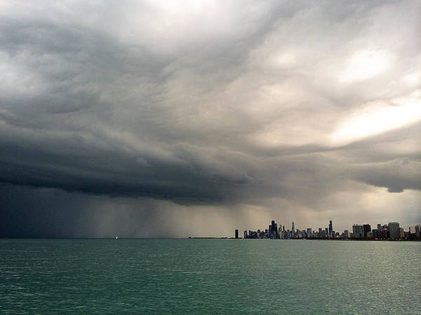 Storms Over Chicago Art Print