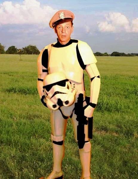 Fife Painting - Stormtrooper Barney Fife by Paul Van Scott