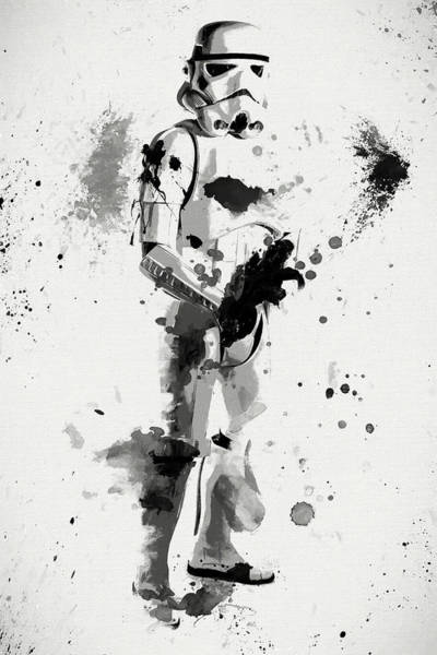 Star Wars Wall Art - Painting - Stormtrooper Force by Dan Sproul