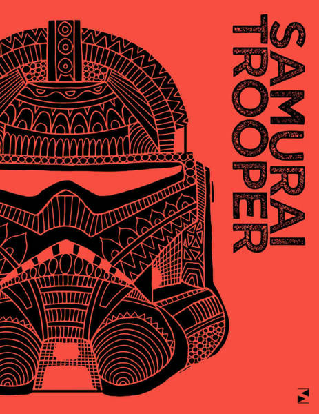 Darth Vader Mixed Media - Stormtrooper Helmet - Red - Star Wars Art by Studio Grafiikka