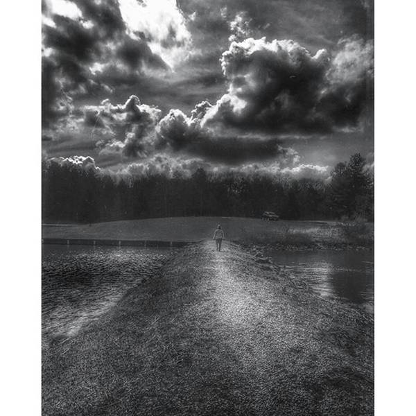 Strong Wall Art - Photograph - A Woman Walking Into A Storm  by Phunny Phace