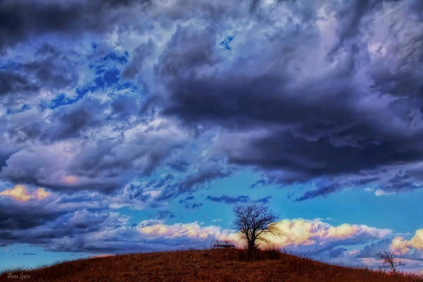 Photograph - Stormy Autumn Hill by Anna Louise