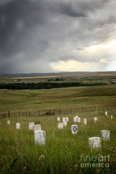 Indian Burial Ground Photograph - Stormy Battlefield by Sandy Adams
