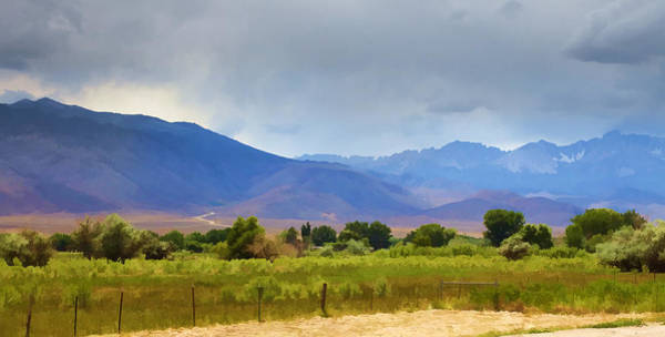Bishop Photograph - Stormy California Mountains by Ricky Barnard