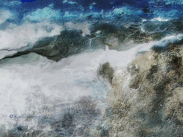 Digital Art - Stormy Coastline by Kae Cheatham