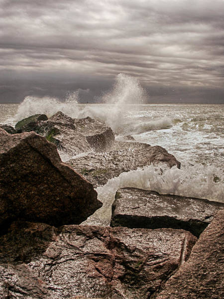 Photograph - Stormy Day At Jetties by Charles McKelroy