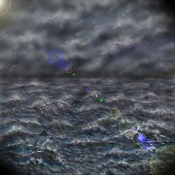 Digital Art - Stormy Day At Sea by Darren Cannell