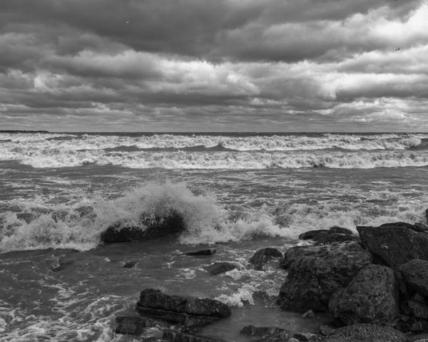 Photograph - Stormy Day - Lake Eire Shore by Jack R Perry
