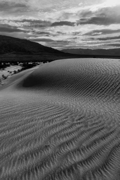 Photograph - Stormy Death Valley Sunset Mesquite Dunes by TM Schultze