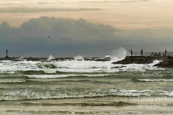 Photograph - Stormy Fishing by Deborah Benoit