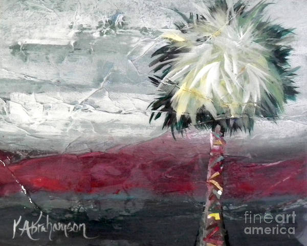 Stormy Horizons Palm Tree Art Print
