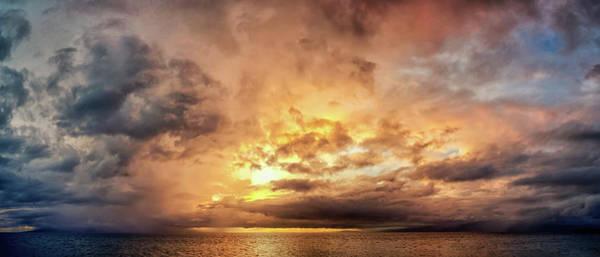 Photograph - Stormy Ka'anapali Sunset by Christopher Johnson