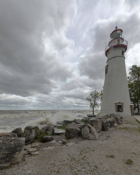 Photograph - Stormy Marblehead Lighthouse by Jack R Perry