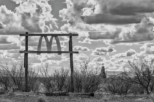 Ghost Sign Photograph - Stormy Mcdonald Ranch by Jurgen Lorenzen