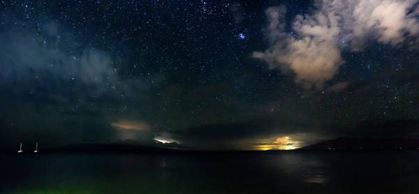 Photograph - Stormy Night Sky by Christopher Johnson