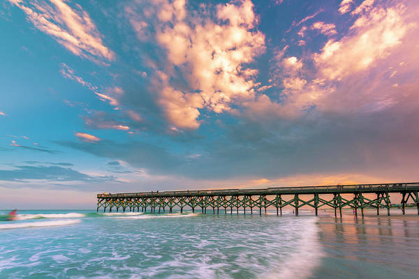 Photograph - Stormy Rain Clouds Over Crystal Pier In North Carolina by Ranjay Mitra