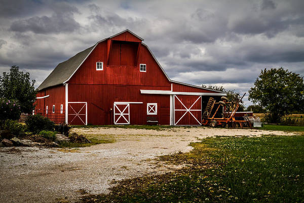 Photograph - Stormy Red Barn by Ron Pate