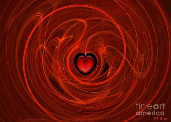 Sweetheart Digital Art - Stormy Romance by Sandra Bauser Digital Art