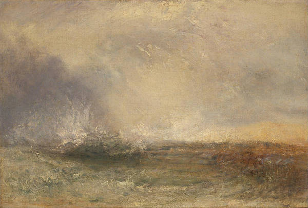Painting - Stormy Sea Breaking On A Shore by William Turner