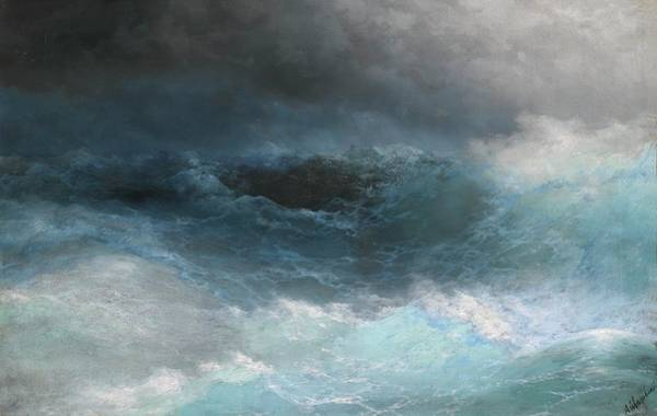 Painting - Stormy Sea by Ivan Aivazovsky