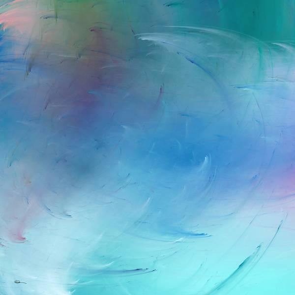 Digital Art - Stormy Seas Aqua by Wally Boggus
