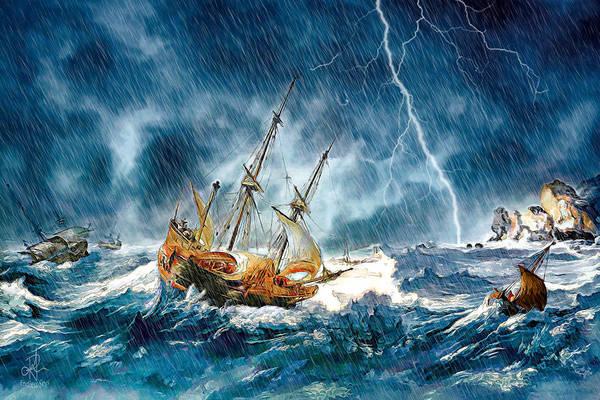 Digital Art - Stormy Seas by Pennie McCracken