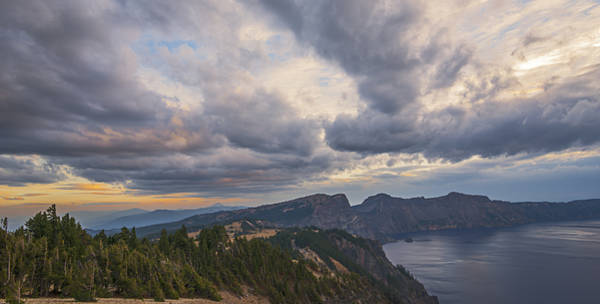 Photograph - Stormy Skies Over Crater Lake by Loree Johnson