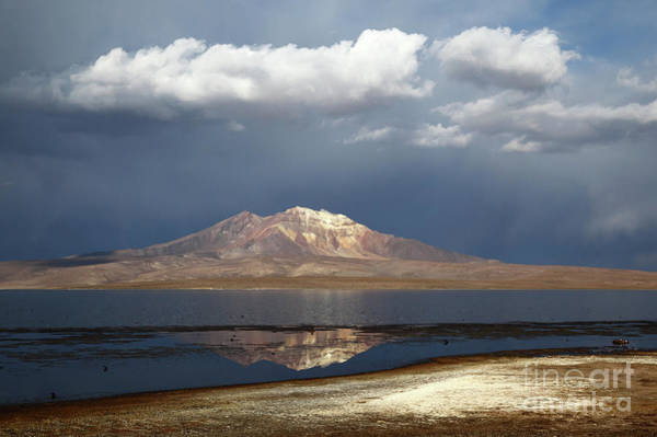 Photograph - Stormy Skies Over Lauca National Park Chile by James Brunker