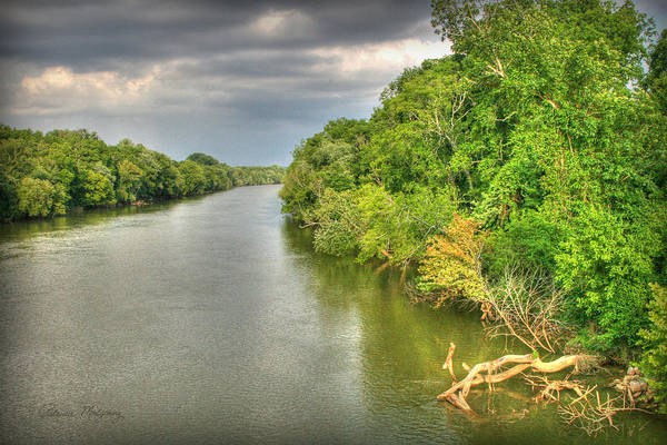 Stormy Skies Over The Coosa River Art Print